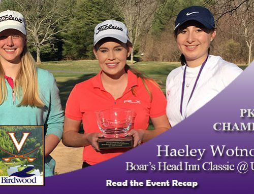 Recap: Wotnosky, Shin Win Boar's Head Inn Classic at Birdwood GC
