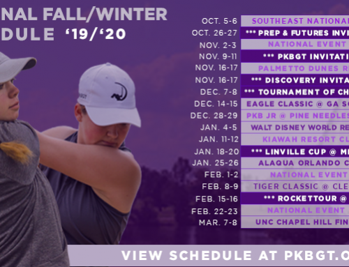 PKBGT Fall '19/ Winter '20 Schedule Released