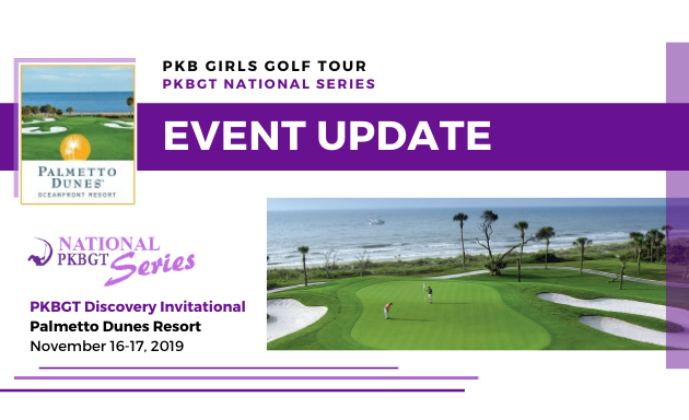 Update: 2019 Discovery Invitational at Palmetto Dunes Oceanfront Resort